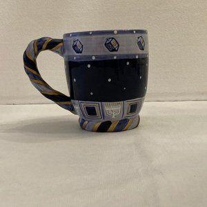 Hanukkah Blue Hand Painted Ceramic Mug